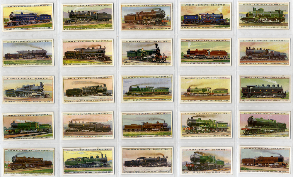 Lambert & Butler 1912 Worlds Locomotives, complete set of 25, Cat. £100