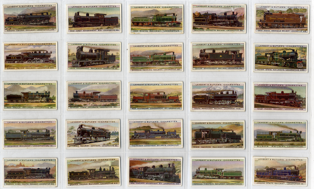 Lambert & Butler Wolrds Locomotives (additional set), complete set of 25, Cat. £112.50