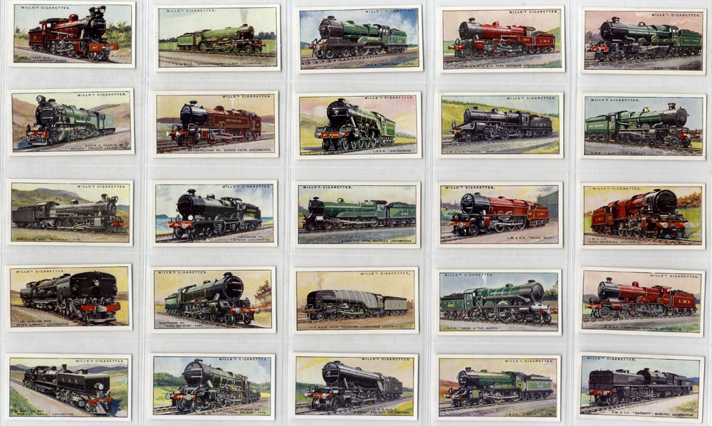 Wills 1930 Railway Locomotives, complete set of 50, very fine condition, Cat. £90
