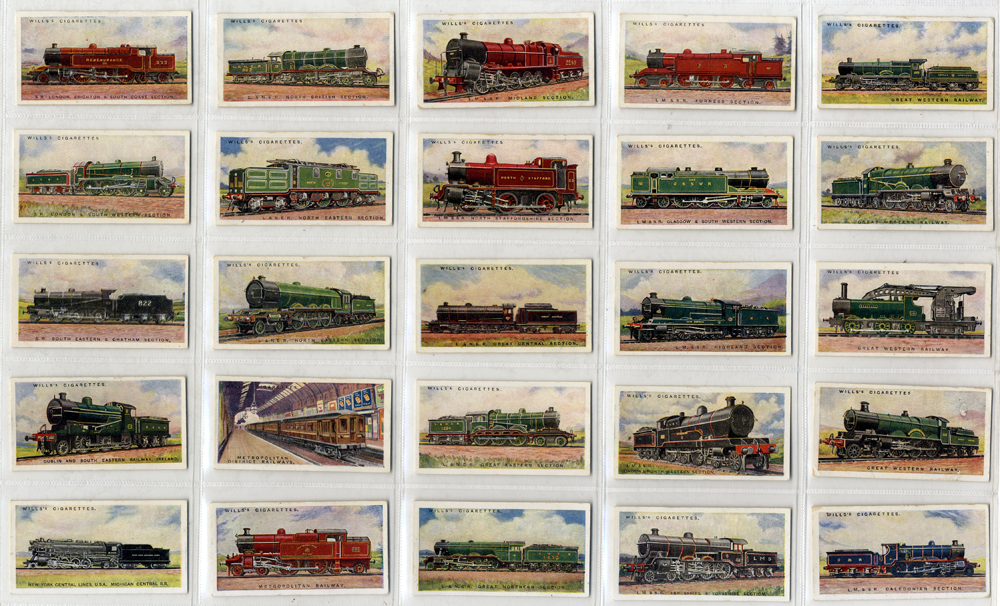 Wills 1924 Railway Engines, complete set of 50, good to very good condition, Cat. £62.50