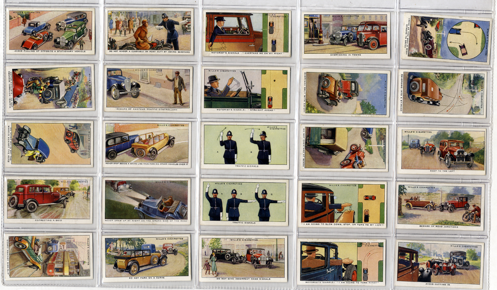 Wills 1934 Safety First, complete set of 50, Cat. £50