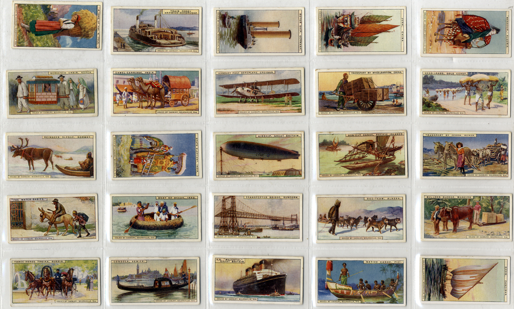 Cadbury (Bournville) 1925 Transport, complete set of 25, Cat. £22.50