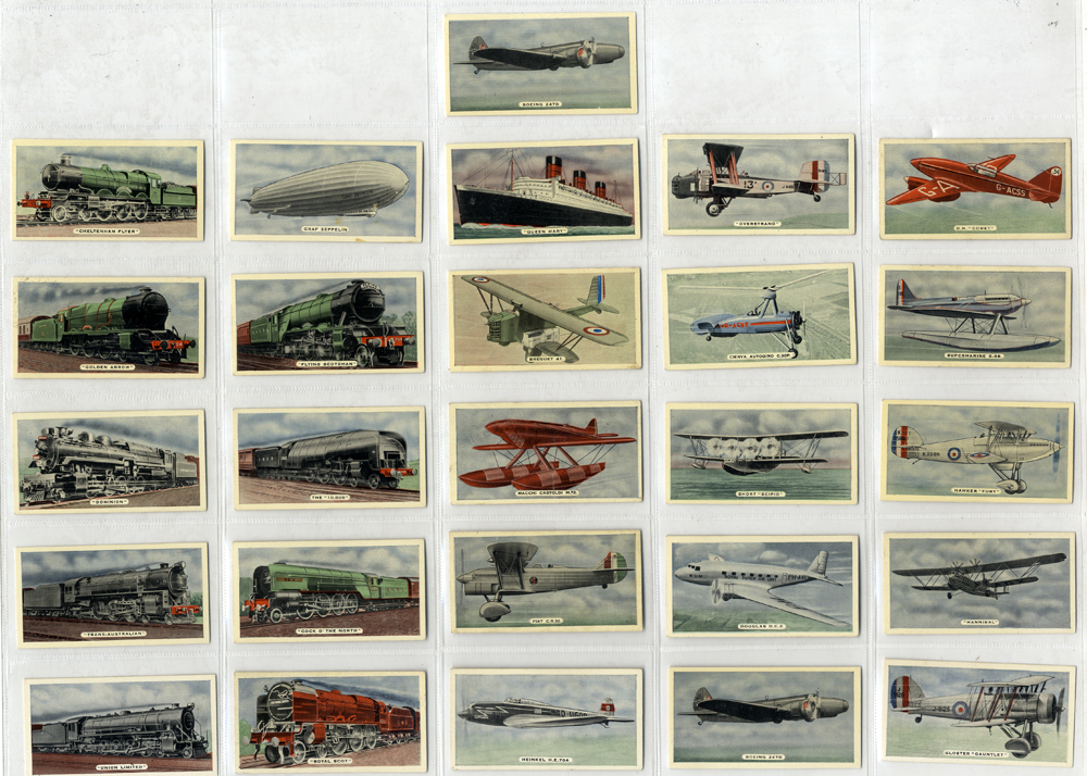 Ardath 1935 Speed Land Sea & Air, complete set of 50, Cat. £75