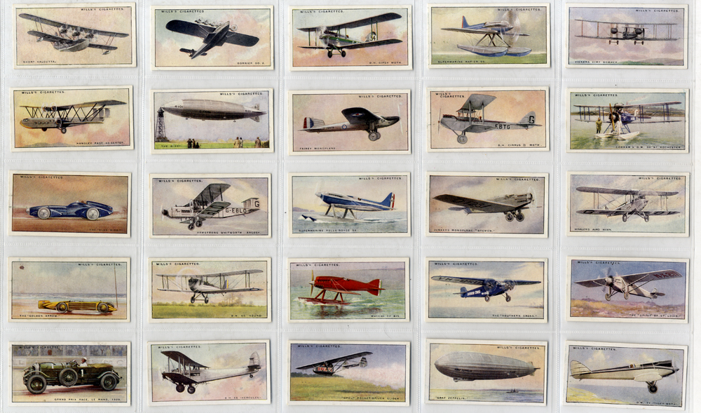 Wills 1930 Speed (title in white), complete set of 50, Cat. £80