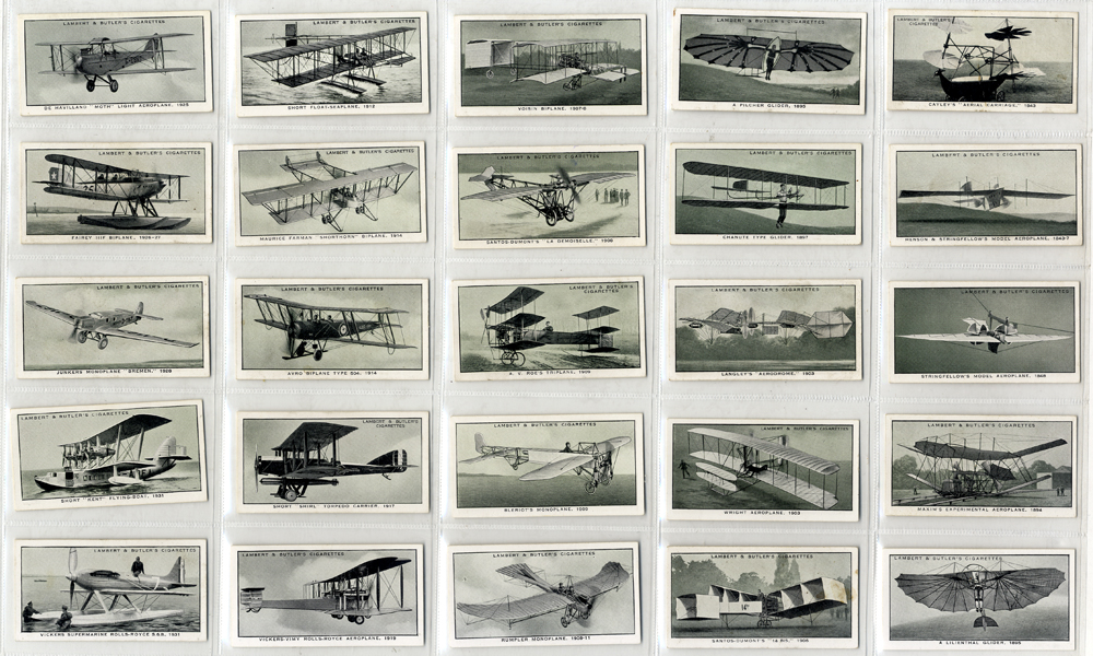 Lambert & Butler 1932 A History of Aviation, complete set of 25, Cat. £25