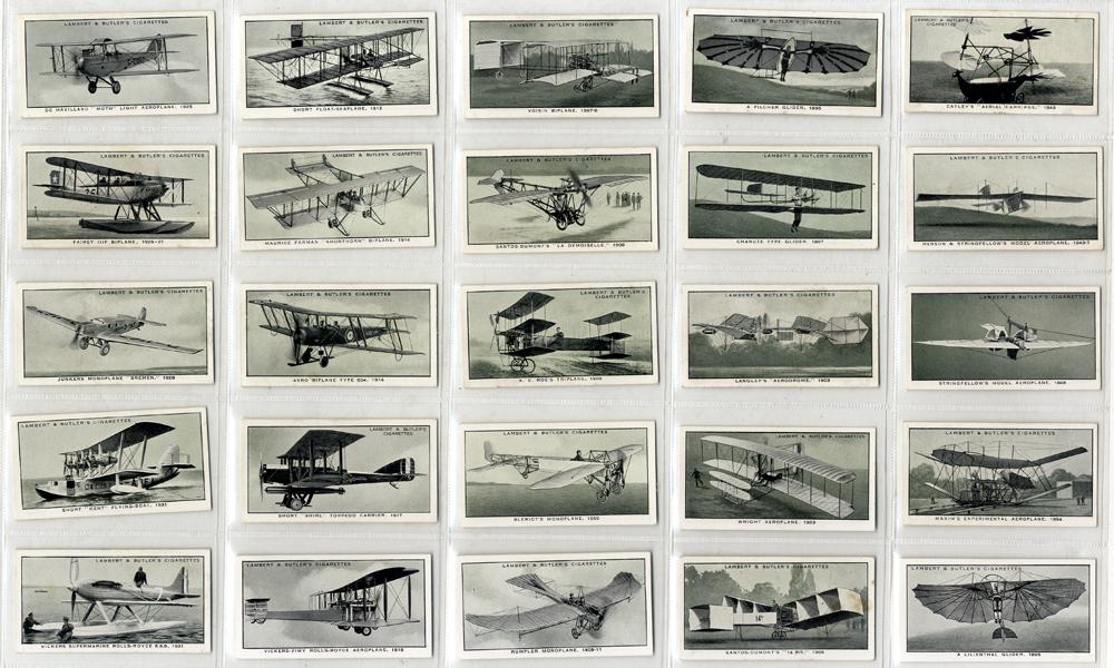 Lambert & Butler 1932 A History of Aviation, complete set of 25, Cat. £25