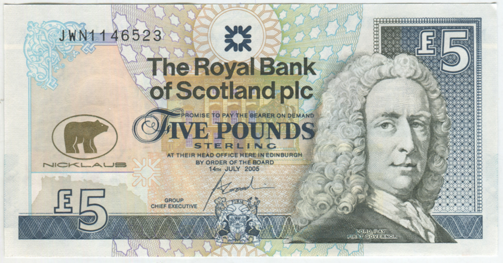 Royal Bank of Scotland - 2005 £5 Goodwin