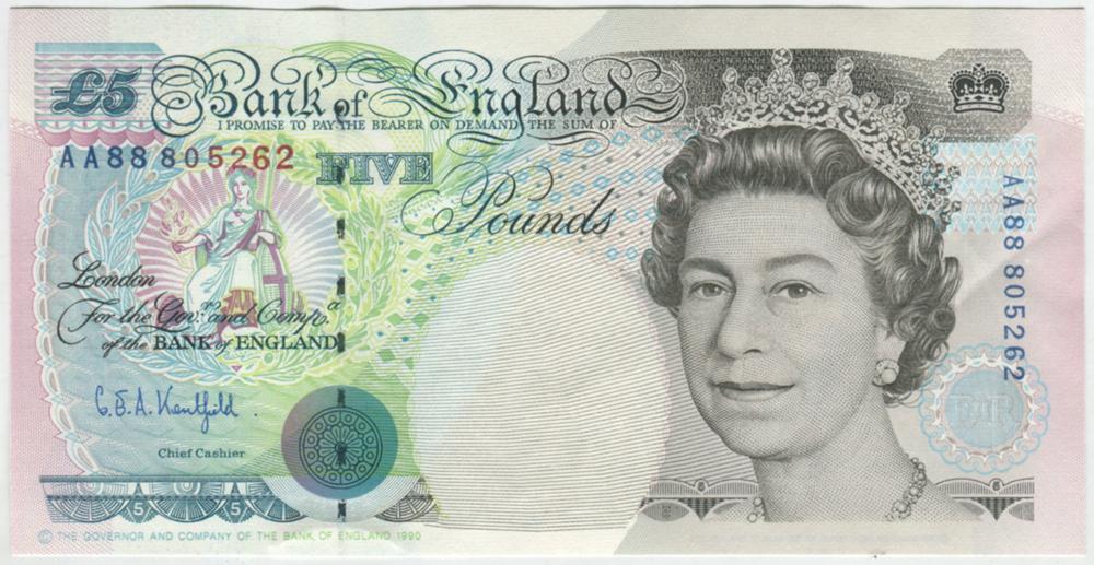 1990 Gill £5 Stephenson