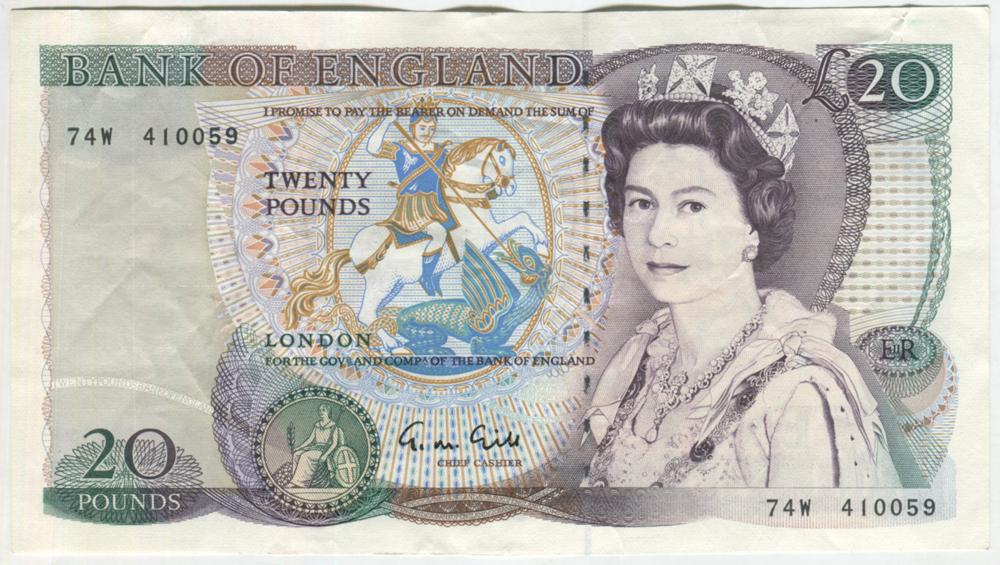 1988 Gill £20 Shakespeare