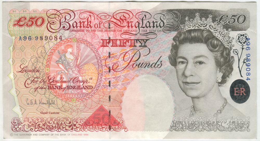 1994 Kentfield £50 Windowed Thread