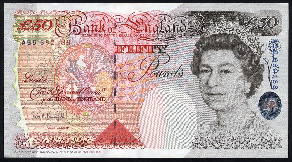 1994 £50 Kentfield, Windowed Thread