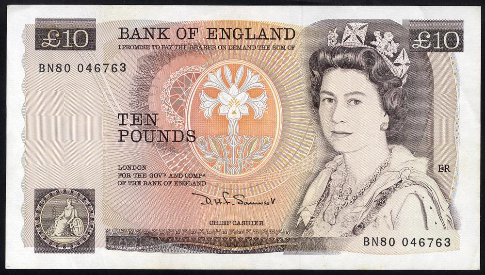 1984 Somerset £10 brown
