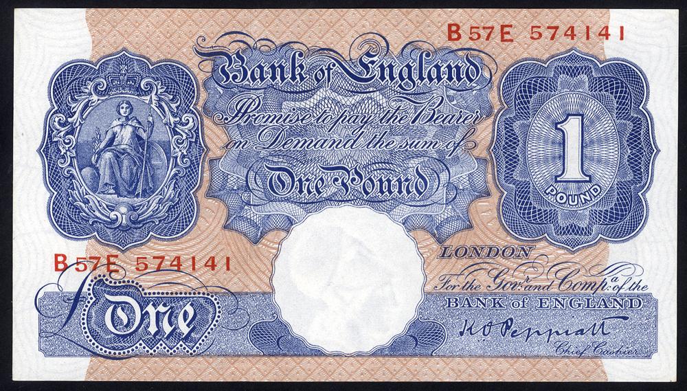 1940-48 Peppiatt £1 - Emergency Issue