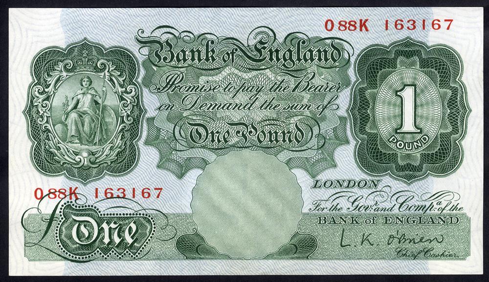 1955 O'Brien £1 green