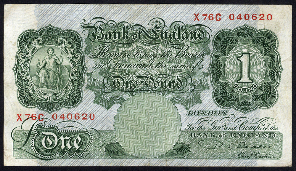 1950 Beale £1 green