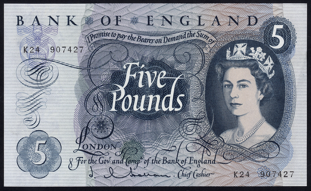 1963 Hollom £5