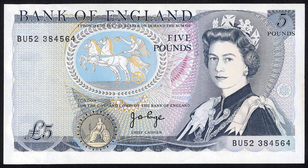 1973 Page £5 'L' Wellington