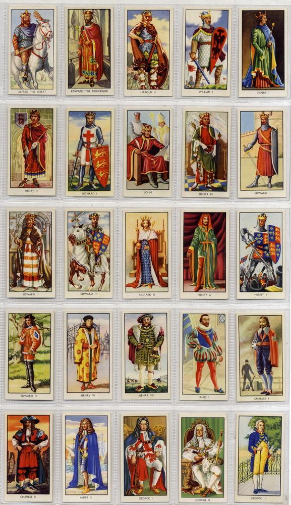 Amalgamated Tobacco (Mills) Kings of England, complete set of 25, Cat. £42.50