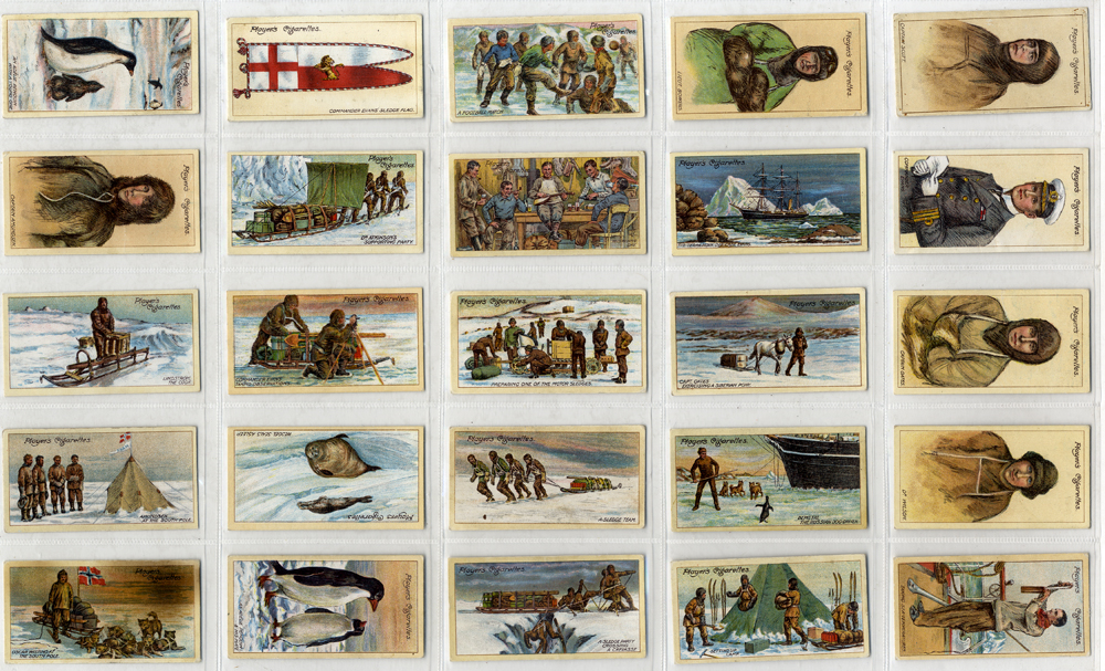 John Player 1916 Polar Exploration, 2nd series, complete set of 25, Cat. £55