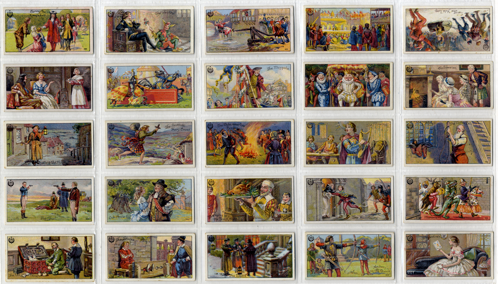 Typhoo 1922 Ancient & Annual Customs, complete set of 25, Cat. £60