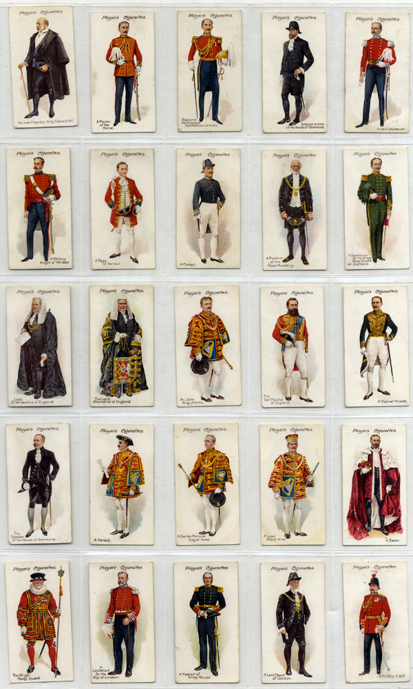 John Player 1911 Ceremonial & Court Dress, complete set of 25, Cat. £45