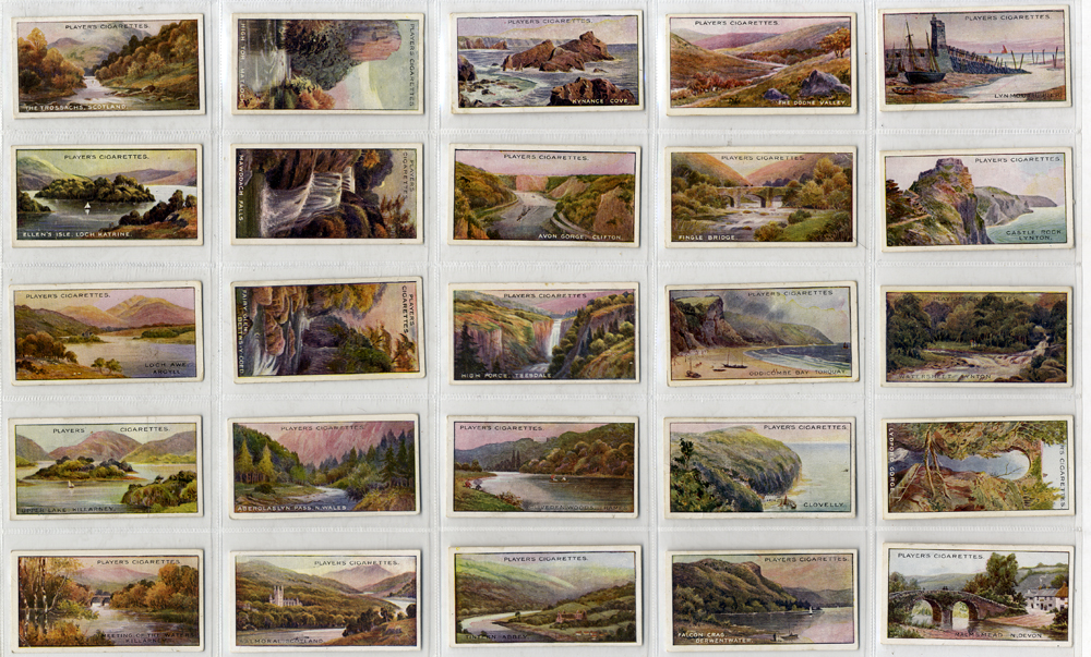 John Player 1917 Gems of British Scenery, complete set of 25, Cat. £25