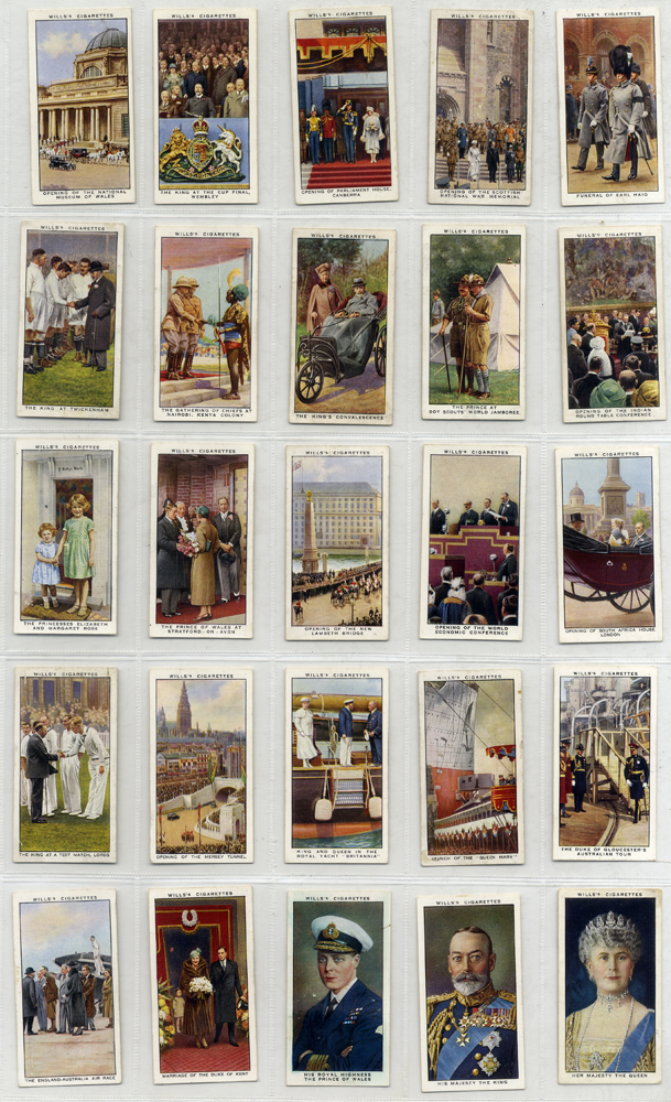 Wills 1935 The Reign of H.M. King George V, complete set of 50, Cat. £35
