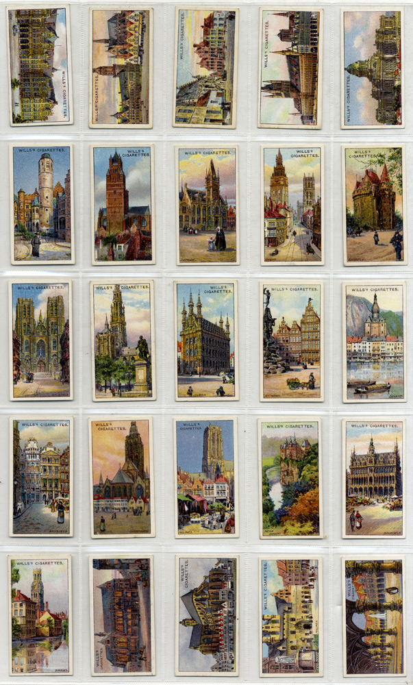 Wills 1915 Gems of Belgian Architecture, complete set of 50, Cat. £32.50