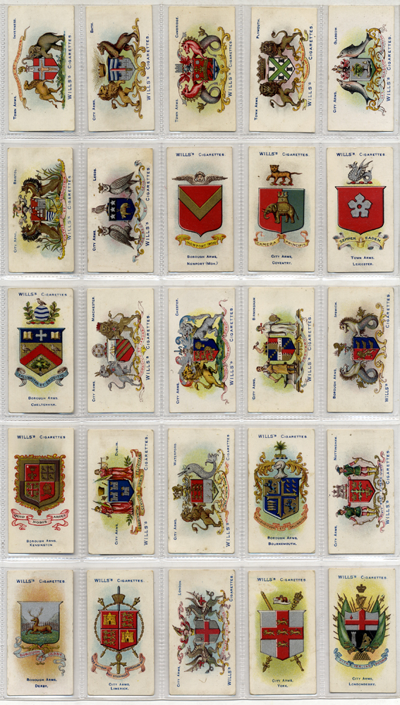 Wills 1906 London and Bristol, second series (51.100), complete set of 50, Cat. £30
