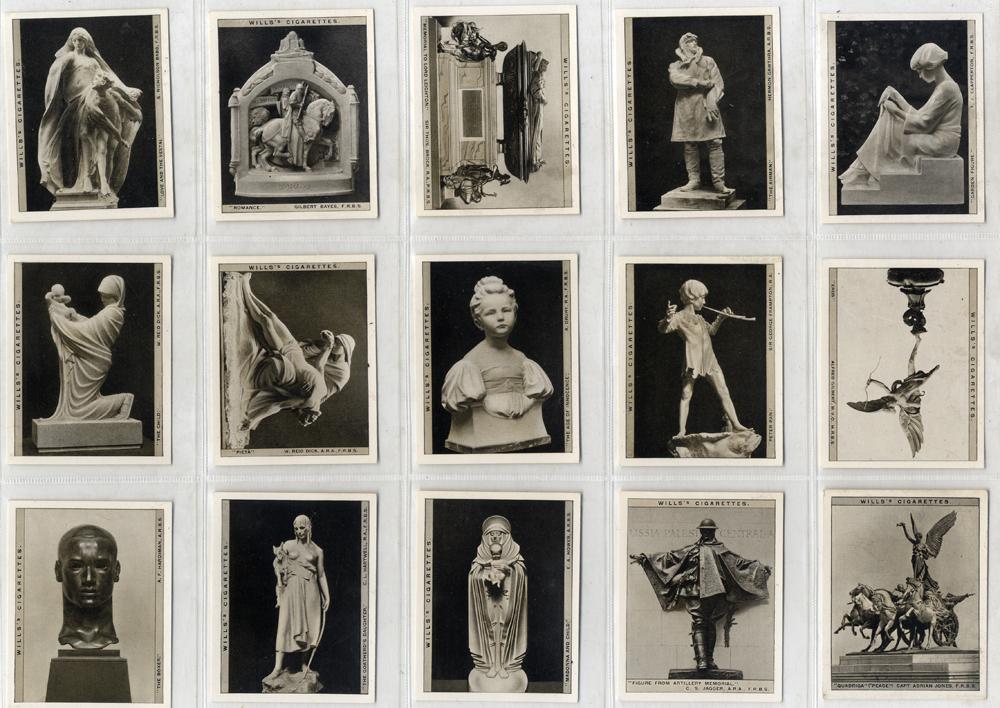 Wills 1928 Modern British Sculpture, complete set of 30, Cat. £36