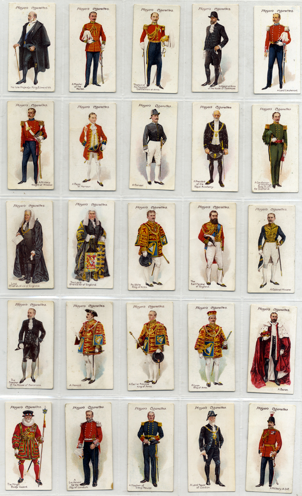 John Player 1911 Ceremonial and Court Dress, complete set of 25, mostly good condition, Cat. £45