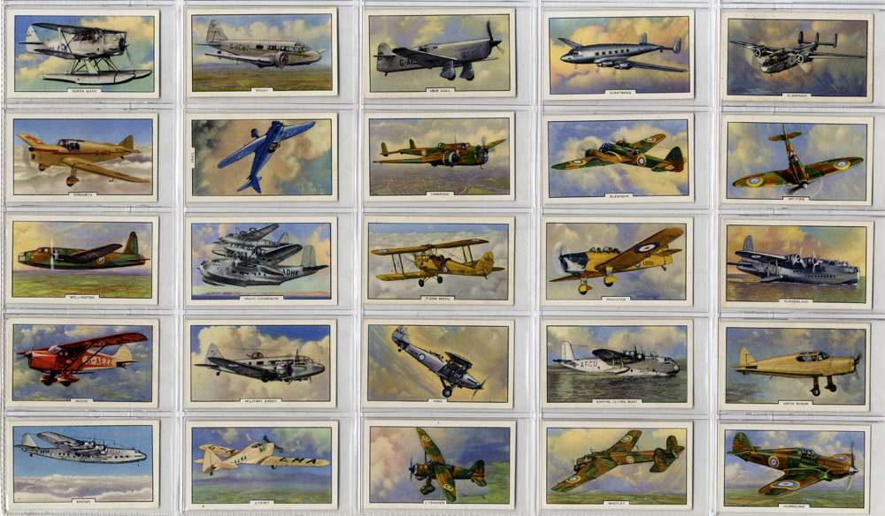 Gallaher 1939 Aeroplanes, complete ste of 48, Cat. £48