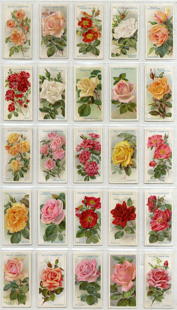 Wills 1912 Roses, A series 1-50, complete set of 50, Cat. £80