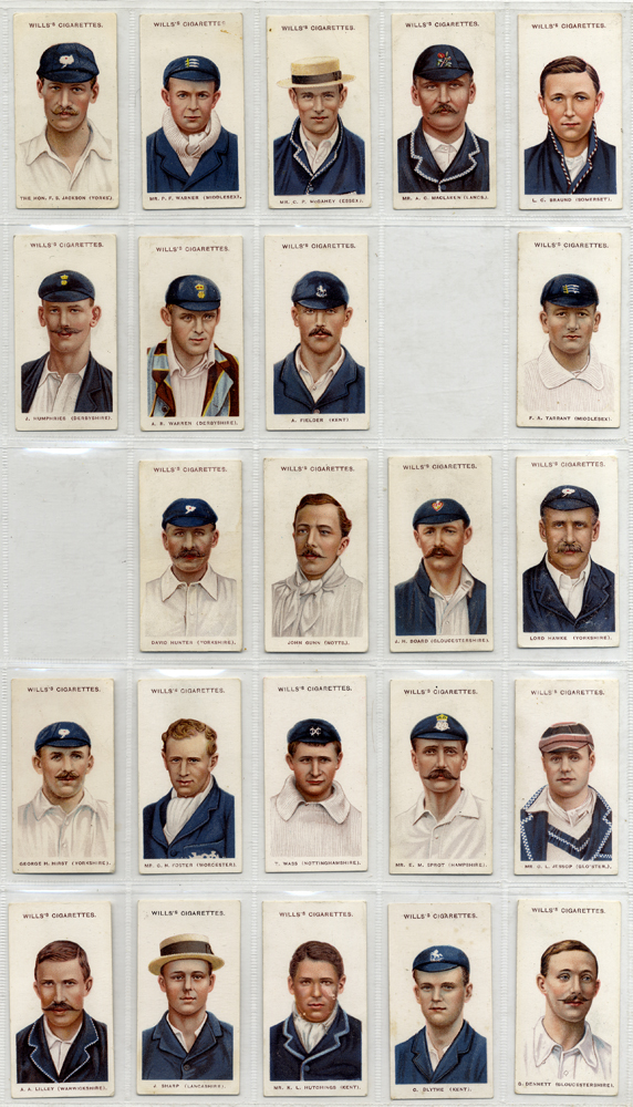 Wills 1908 Cricketers (small 's'), 48 out of 50, Cat. £360
