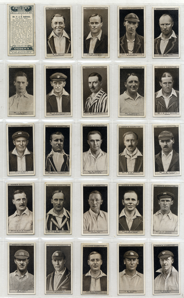 Ogdens 1926 Cricket, complete set of 50, Cat. £140