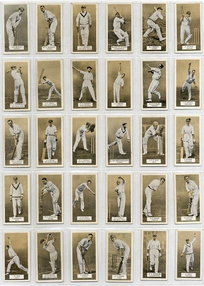 Carreras 1934 A series of Cricketers, complete set of 30, Cat. £105