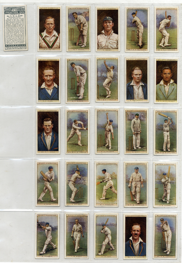 Wills 1928 Cricketers, complete set of 50, Cat. £90