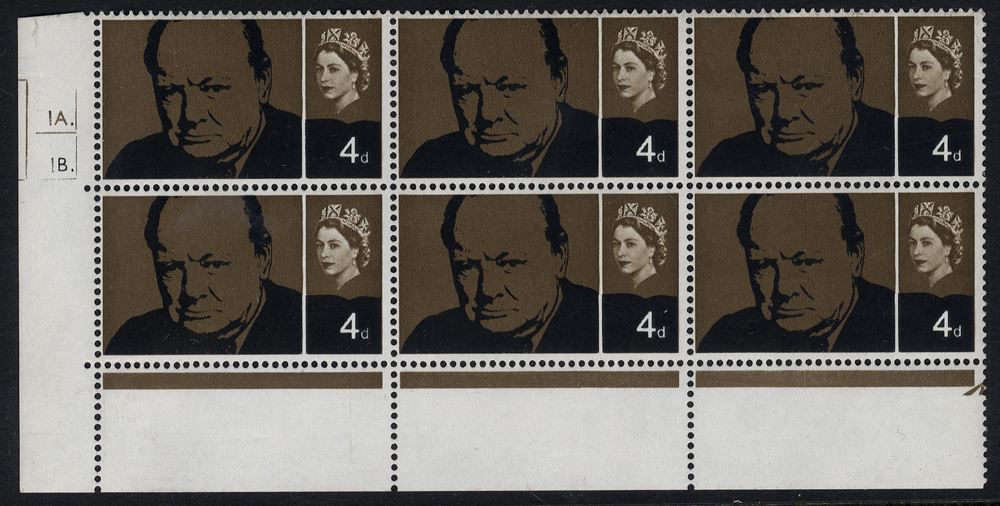 1965 Churchill 4d Cylinder block of six incl. variety