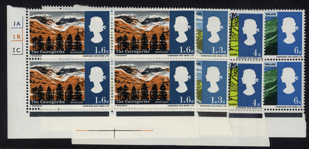 1966 Landscapes set in Cylinder blocks of four