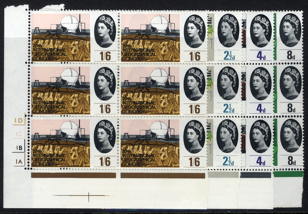 1964 Geographical set in UM Cylinder blocks of six