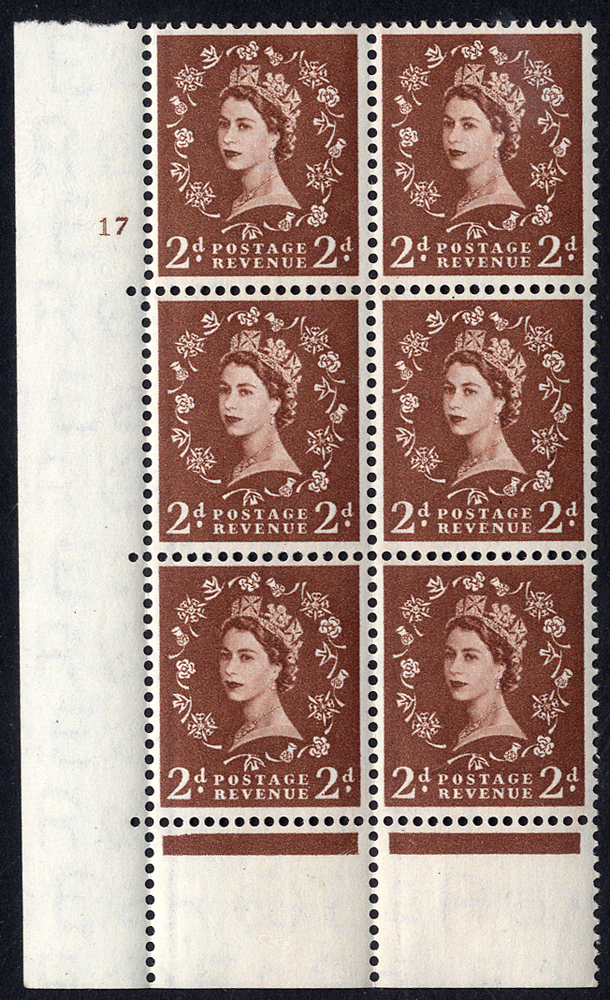 1957 Graphite 2d Cylinder block of six