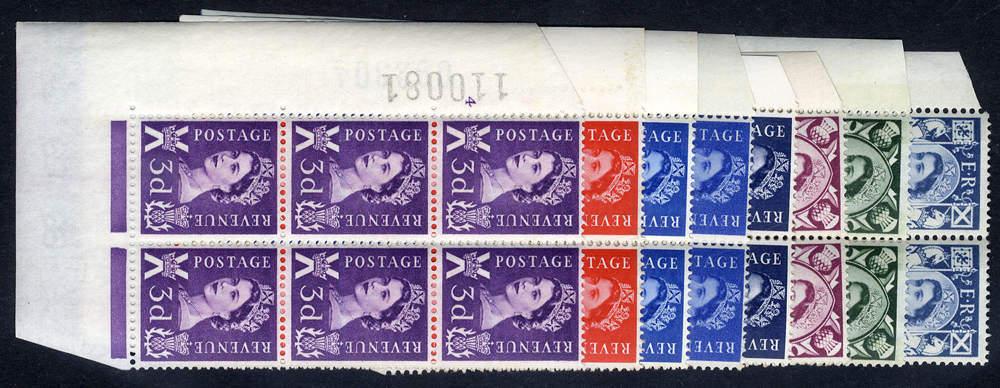 SCOTLAND CYLINDER BLOCKS (9 diff)