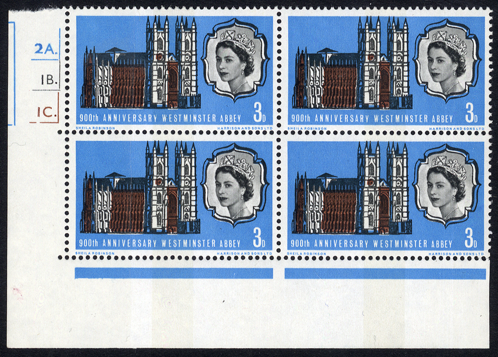 1966 Abbey Phosphor 3d Cylinder block of four