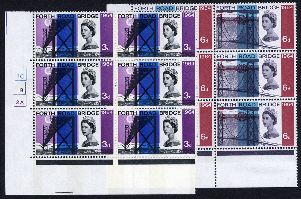 1964 Forth Road Bridge Phosphor set - Cylinder blocks of six