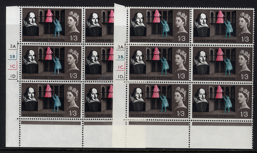 1964 Shakespeare 1/3d Cylinder blocks of six