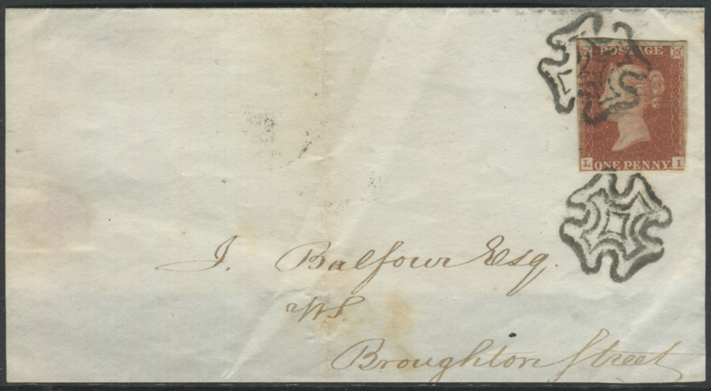 Plate 9 LI, three clear margins on a cover front + back flap