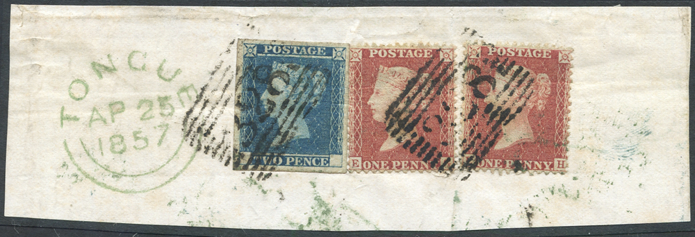 1841 2s Small Trial, single example with large margins all around, used, RPS Certificate (1994) Specialised DP43