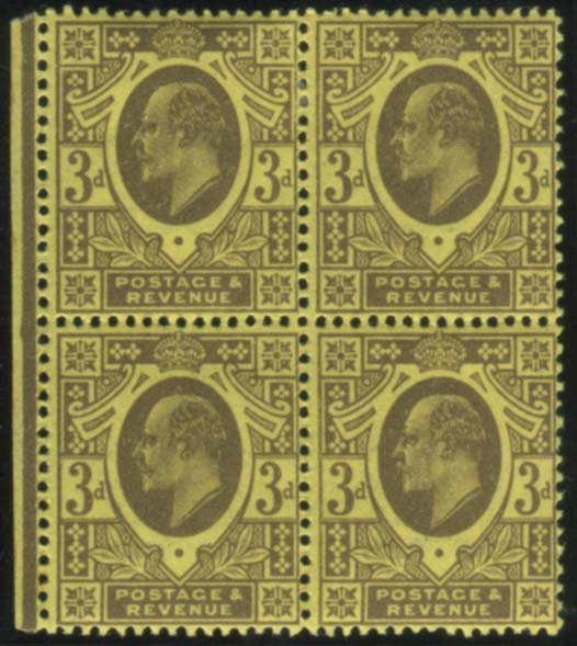 1911 Harrison P.13 x 14 - fine M block of four