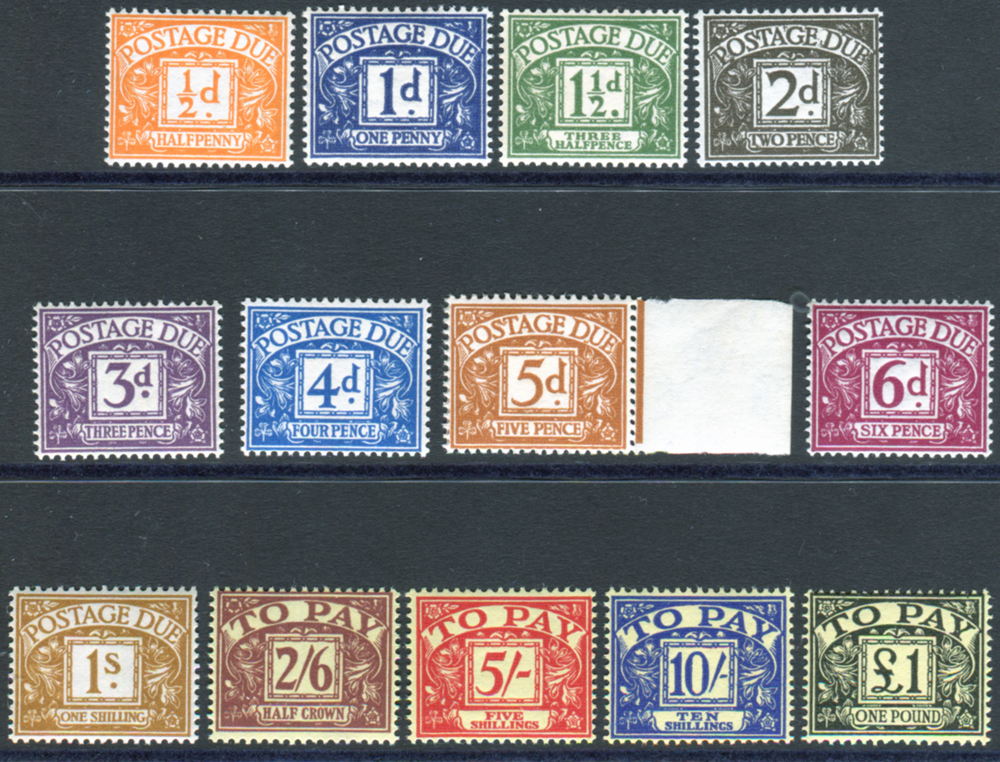 POSTAGE DUES - 1959 Multiple Crowns set - UM