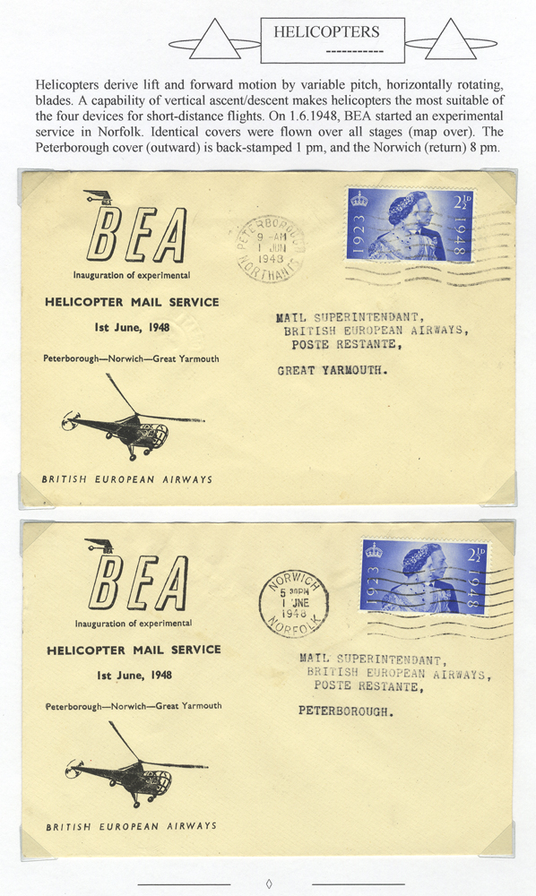 1948 British European Airways Helicopter first flight covers (2)